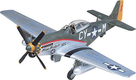 plastic airplane model,model airplane,P-51D Mustang -- Plastic Model Airplane Kit -- 1/48 Scale -- #855241