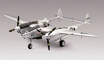 model planes,model airplane,P-38J Lightning -- Plastic Model Airplane Kit -- 1/48 Scale -- #855479