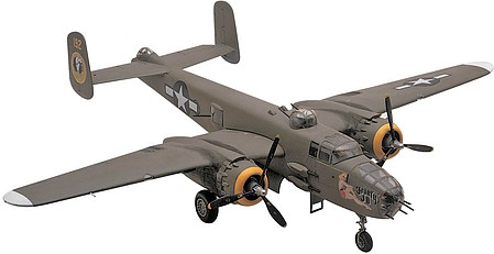 model planes,model airplane,B25J Mitchell Bomber -- Plastic Model Airplane Kit -- 1/48 Scale -- #855512