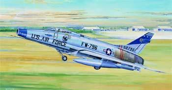 model airplane,plastic airplane model,F100D Super Sabre Attack Fighter -- Plastic Model Airplane -- 1/32 Scale -- #02232